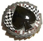Spade on Cards - Large Belt Buckle + display stand